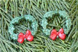 Christmas Button - Christmas Wreath