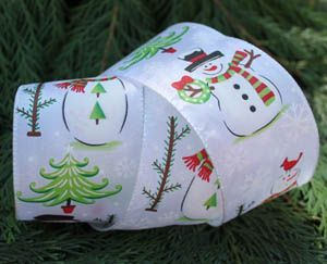 Christmas Ribbon - Snowmen
