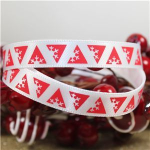 Skinny Christmas Triangle Snowflakes - Red