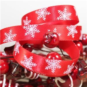 Skinny Christmas Snowflake - Red/White