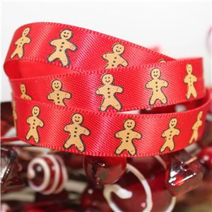 Skinny Christmas Gingerbread Men - Red