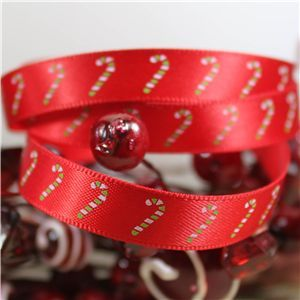 Skinny Christmas Candy Cane - Red
