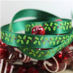Skinny Christmas Holly - Green