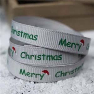 Go Grosgrain - Merry Christmas Hat Silver/Green