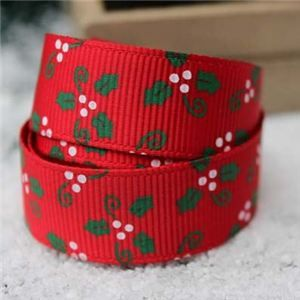 Go Grosgrain - Holly Red/Green