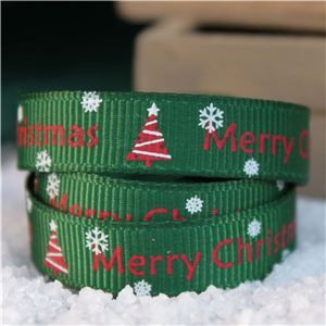 Go Grosgrain - Merry Christmas Tree Forest/Red