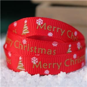 Go Grosgrain - Merry Christmas Tree  Red/Gold