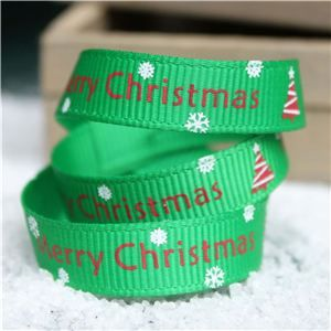 Go Grosgrain - Merry Christmas Tree Emerald/Red