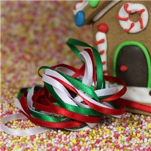 Gingerbread Men Ribbon - 3mm Satin