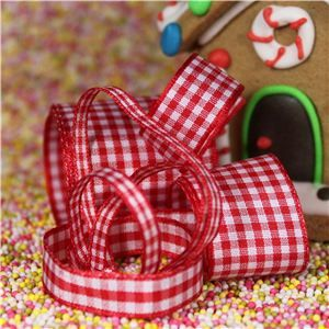 Gingerbread Men Ribbon - Gingham