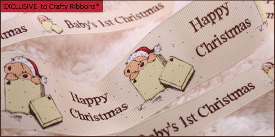 babys first christmas ribbon
