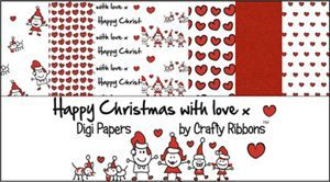 Christmas Ribbon - Happy Family Digi Papers