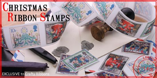 Christmas ribbon stamps