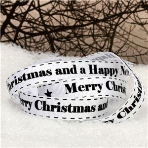 Snowmen Ribbon - Merry Christmas