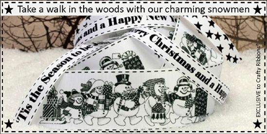 walking snowmen ribbon
