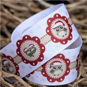 Christmas Owl Ribbon - Flower Owls