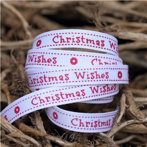 Christmas Owl Ribbon - Wishes/Snowy