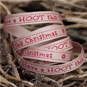 Christmas Owl Ribbon - Hoot/Tawny