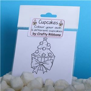 Christmas Cupcake - Colour your own
