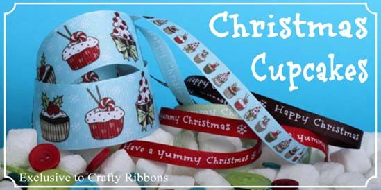 Christmas cupcake ribbons