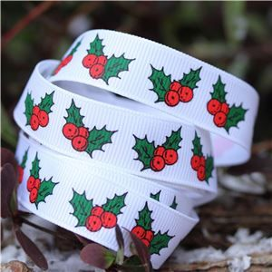 Deck the Halls Ribbon - Holly