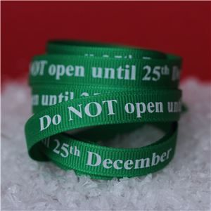 Wash Day Ribbon - Do NOT Open/ Elf Green