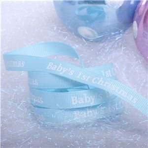 Winterscene Stamp Ribbon - Baby Blue