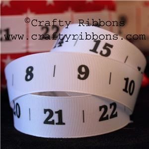 Advent Number Ribbon - White
