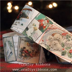 Vintage Christmas Past Ribbon - Christmas Cards