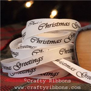 Vintage Christmas Past Ribbon - Christmas Greetings