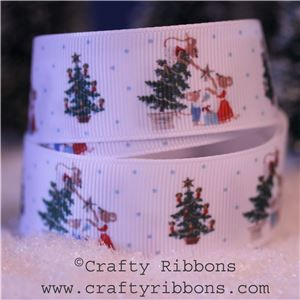 Mice Christmas Ribbon - Tree Star