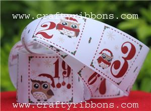 owl advent pocket ribbon