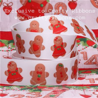 Gingerbread Ribbons - 25mm Gingerbreads