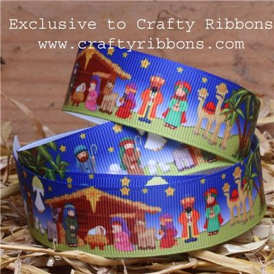 Nativity Ribbons - 25mm Nativity Story