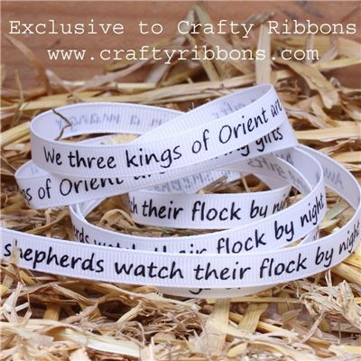 Nativity Ribbons - 9mm Nativity Words