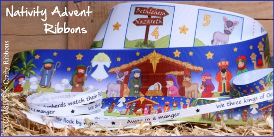 nativity advent number ribbons