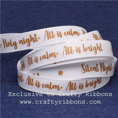 Silent Night Ribbons - 9mm Silent Night