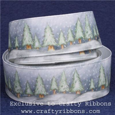 Silent Night Ribbons - 25mm Trees