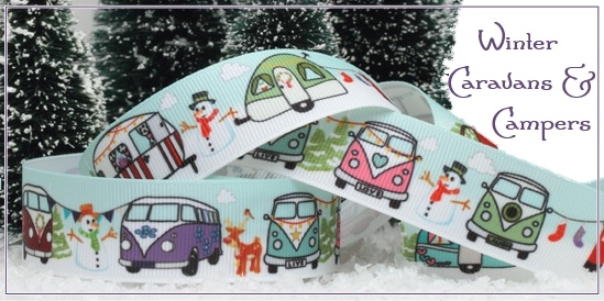 winter caravans and camper ribbon