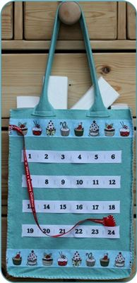 Advent Number Ribbon Ribbon Bag - Cupcake