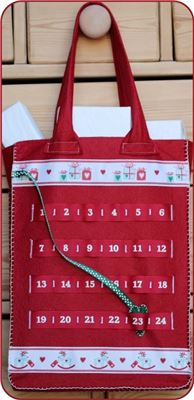 Advent Number Ribbon Ribbon Bag - New England