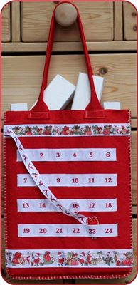 Advent Number Ribbon Ribbon Bag - Santa Grotto