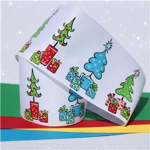Christmas Ribbon - Funky Trees