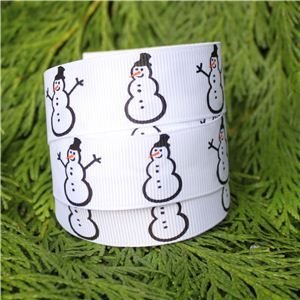 Christmas Ribbon - Simple Snowman
