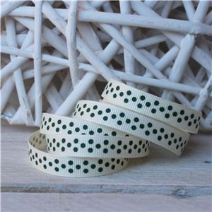 Christmas Ribbon - Forest Dots