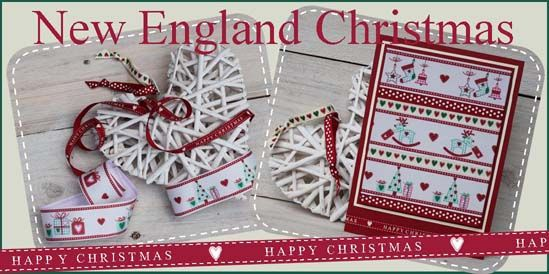 new england christmas ribbon, rustic christmas ribbon