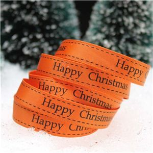 Christmas Ribbon - H/C Saddle Stitch Ginger