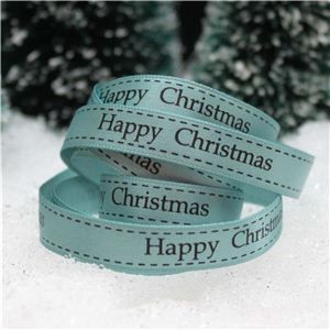Christmas Ribbon - H/C Saddle Stitch Nile