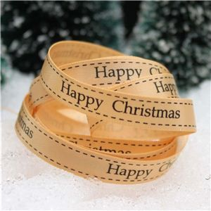 Christmas Ribbon - H/C Saddle Stitch Tan