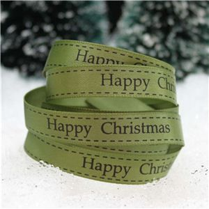 Christmas Ribbon - H/C Saddle Stitch Willow